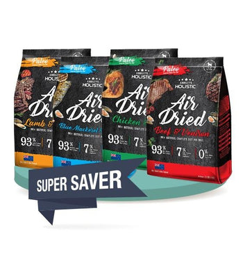 4 FOR $169.90 [SAVER BUNDLE]: Absolute Holistic Air Dried Food 1kg (4 Flavours)