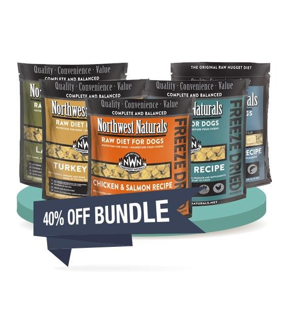 4 FOR $170 [SAVER BUNDLE]: Northwest Natural's Freeze Dried Nuggets Dog Food