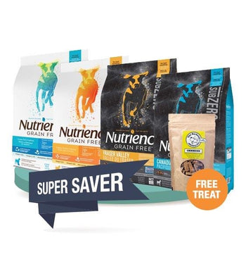 60% OFF + FREE TREAT [SAVER BUNDLE]: Nutrience Dry Dog Food