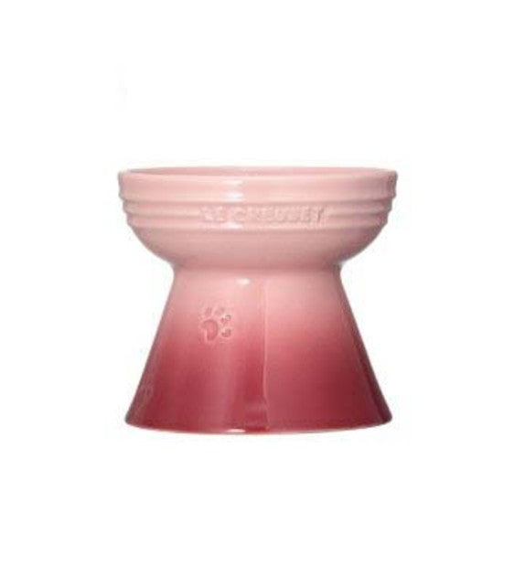 Le Creuset Handcrafted Pale Rose Footed Dog Bowl