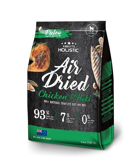 40% OFF: Absolute Holistic Air Dried Chicken & Hoki Dog Food 1kg