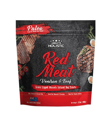 Absolute Holistic Air Dried Dog Treats (Red Meat)