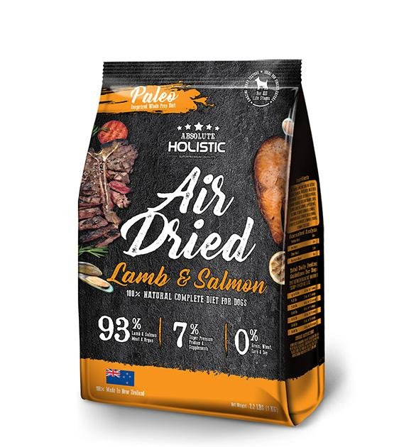 40% OFF: Absolute Holistic Air Dried Lamb & Salmon Dog Food 1kg