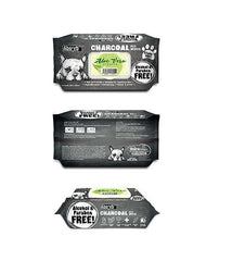 3 FOR $15: Absorb Plus Charcoal Hypoallergenic Pet Wipes (Aloe Vera)