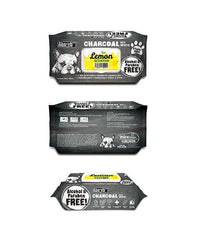 3 FOR $15: Absorb Plus Charcoal Hypoallergenic Pet Wipes (Lemon)