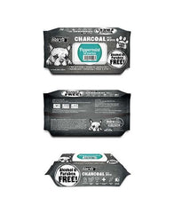 3 FOR $15: Absorb Plus Charcoal Hypoallergenic Pet Wipes (Peppermint)
