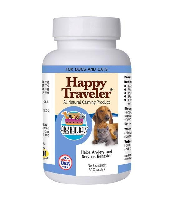 Ark Naturals Happy Traveler Natural Calming Capsule Supplements For Dogs