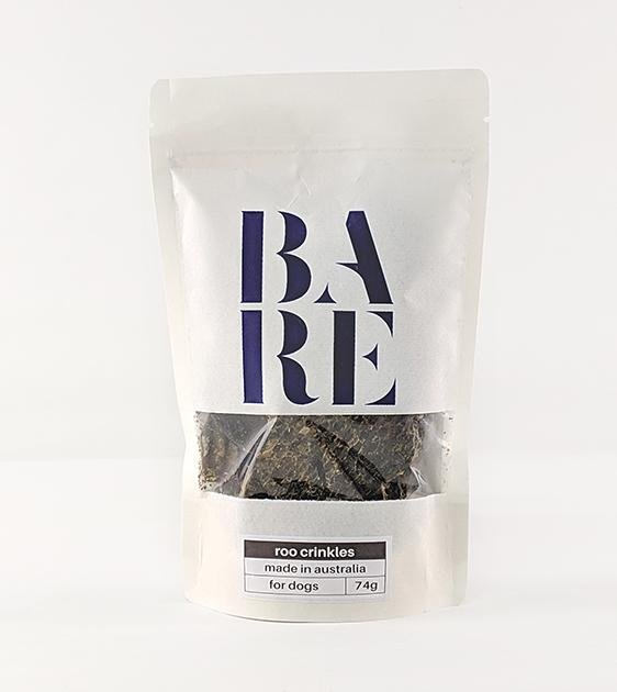30% OFF: BARE Australian Premium Roo Crinkles Dog Treats
