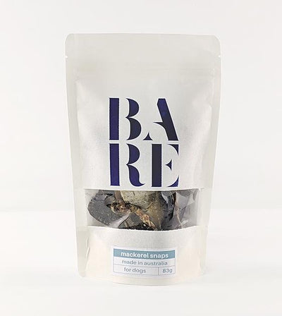 20% OFF: BARE Australian Premium Mackerel Snaps Dog Treats