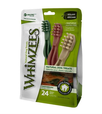 3 FOR $10: WHIMZEES Natural Toothbrush Dental Dog Chews (Trial Pack)
