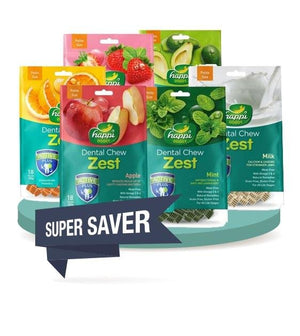 BUY 2 FREE 1 [SAVER BUNDLE]: Happi Doggy Zest Dental Dog Chews 150g (2.5 Inch)