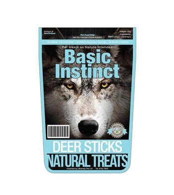 Basic Instinct Deer Stick Natural Dog Treats