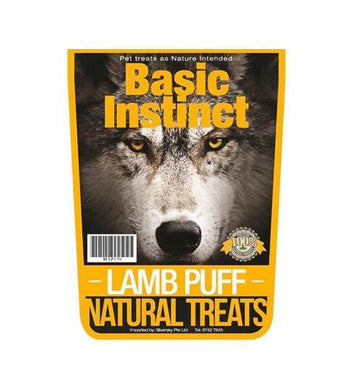 Basic Instinct Lamb Puff Natural Dog Chew Treats