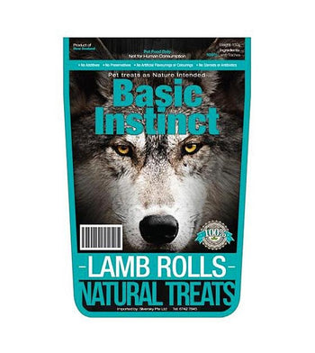 Basic Instinct Lamb Rolls Natural Dog Treats