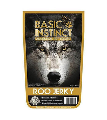 Basic Instinct Roo Jerky Natural Dog Treats