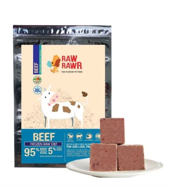 Raw Rawr Frozen Beef Balanced Raw Diet for Cats and Dog Food