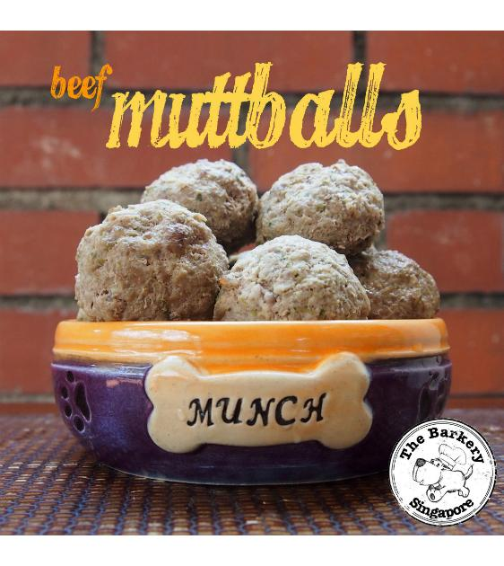 The Barkery Beef Muttballs Meal Toppers Frozen Dog Food