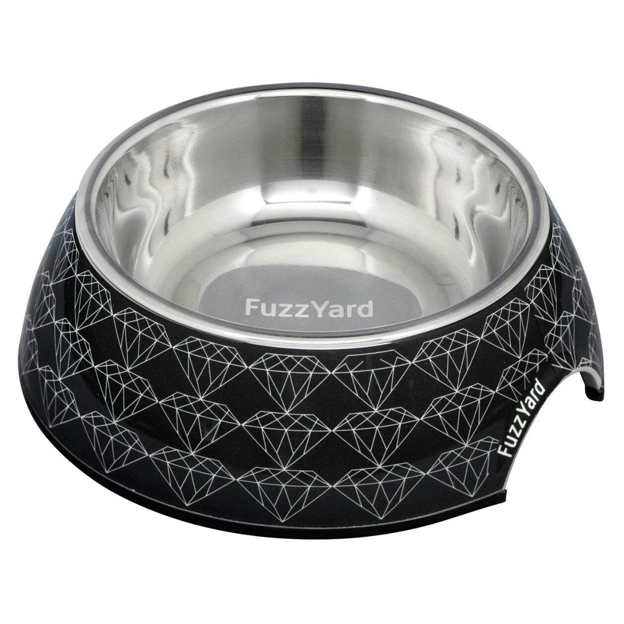 15% OFF: FuzzYard Black Diamond Melamine Dog Feeding Bowl