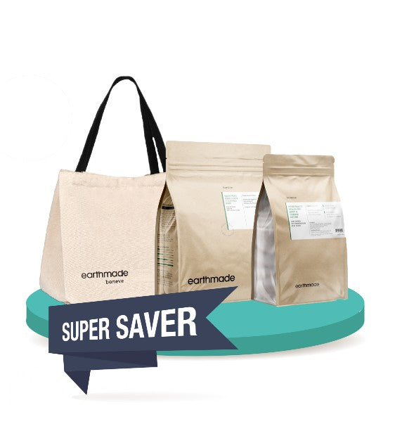 FREE TOTE BAG & TREAT [SAVER BUNDLE]: Earthmade New Zealand Dry Dog Food