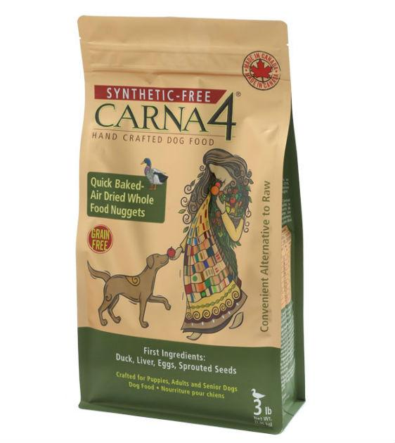 15% OFF + FREE SUPERFOOD: Carna4 Quick Baked Air Dried Duck Dry Dog Food
