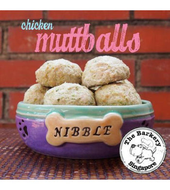 The Barkery Chicken Muttballs Meal Toppers Frozen Dog Food
