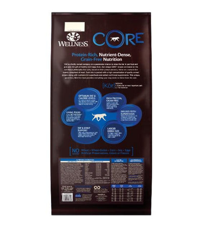 20% OFF + FREE TOPPER: Wellness Core Grain Free Large Breed (Original) Dry Dog Food