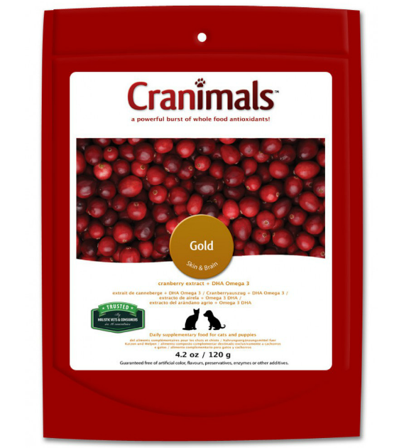 Cranimals Gold Skin & Brain Pet Supplements