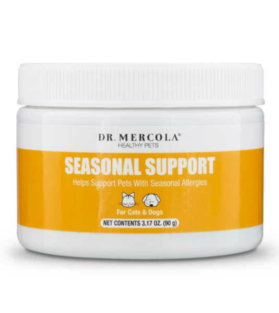 Dr. Mercola's Seasonal Support for Allergies Pets Supplement