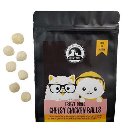 Feed My Paws Small Batch Freeze Dried Raw Cat & Dog Treats (Crocodile / Venison / Chicken Balls)