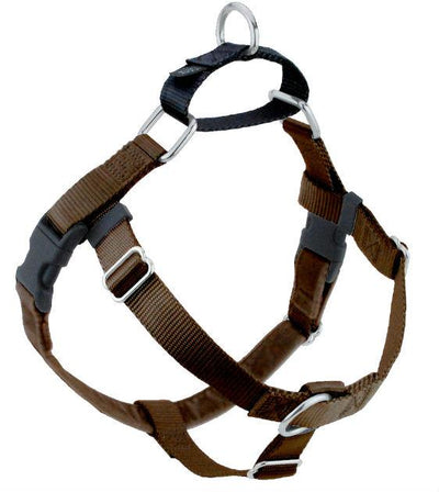 FREEDOM No-Pull Harness & Leash (Brown/Black) For Dogs