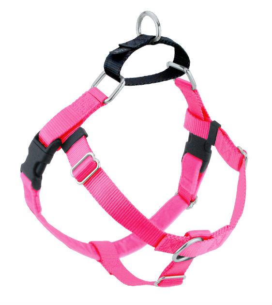 FREEDOM No-Pull Harness & Leash (Hot Pink/Black) For Dogs