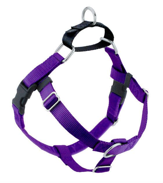 FREEDOM No-Pull Harness & Leash (Purple/Black) For Dogs