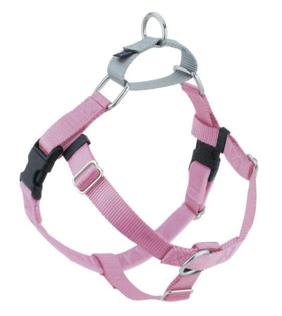 FREEDOM No-Pull Harness & Leash (Rose Pink/Silver) For Dogs