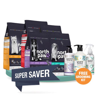 FREE $60 GROOMING KIT [SAVER BUNDLE]: North Paw Grain-Free Dog Food