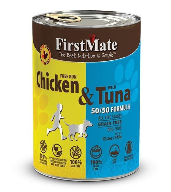20% OFF: FirstMate 50/50 Grain Free, Free Run Chicken & Wild Tuna Canned Dog Food