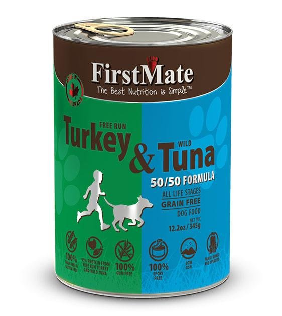 20% OFF: FirstMate 50/50 Grain Free, Free Run Turkey & Wild Tuna Canned Dog Food