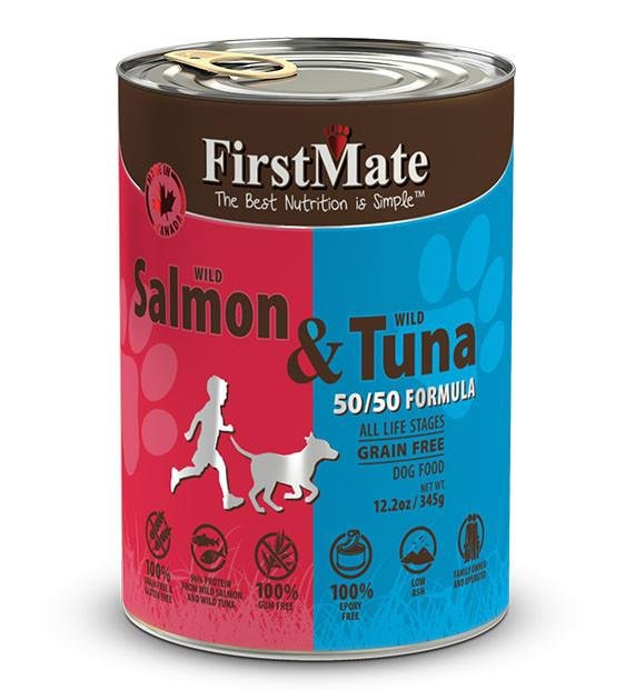 20% OFF: FirstMate 50/50 Grain Free, Wild Salmon & Wild Tuna Canned Dog Food