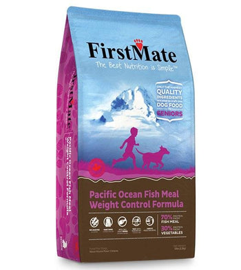 FirstMate Grain Free Pacific Ocean Fish Senior & Weight Control Dry Dog Food (Standard / Small Bites)