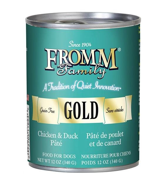Fromm Family Gold Grain Free Chicken & Duck Dog Pate Canned Dog Food