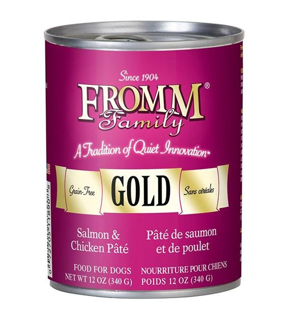 Fromm Family Gold Grain Free Chicken & Salmon Dog Pate Canned Dog Food