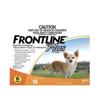 28% OFF: Frontline Plus Flea & Tick Treatment For Small Dogs (Up to 10kg)