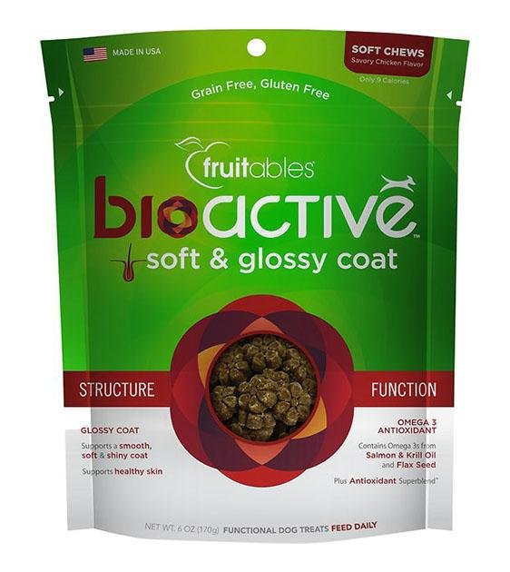 BUY 2 FREE 1: Fruitables BioActive Soft & Glossy Coat Dog Treats