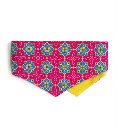 Good Dog People x Ohpopdog Pawranakan Dog Bandana (Pink)