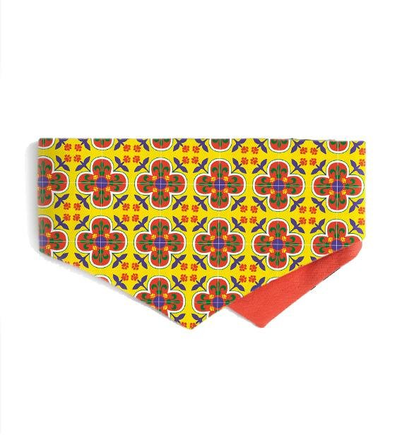 Good Dog People x Ohpopdog Pawranakan Dog Bandana (Yellow)