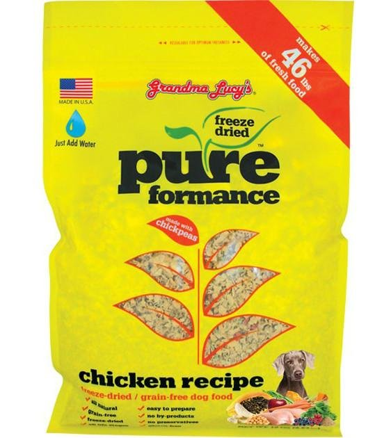 10% OFF: Grandma Lucy's PureFormance Freeze Dried Chicken Recipe Dog Food