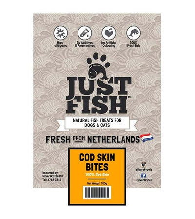 Just Fish Cod Skin Bites Dog Treats
