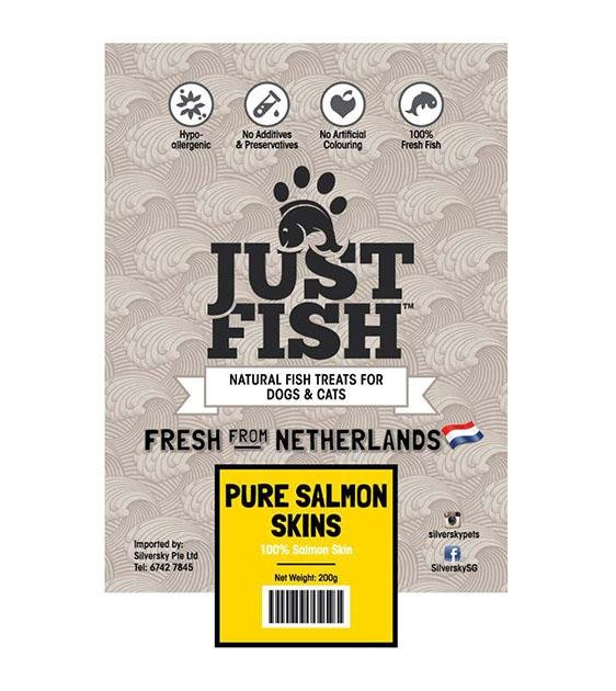 Just Fish Pure Salmon Skin Dog Treats
