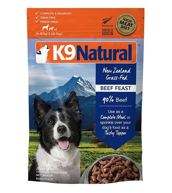 20% OFF: K9 Natural Freeze Dried Beef Feast Dog Food