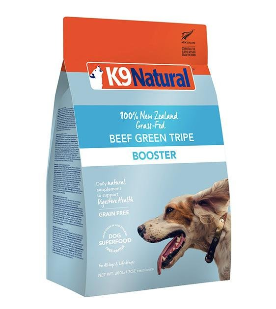 20% OFF: K9 Natural Freeze Dried Beef Green Tripe Booster Dog Food