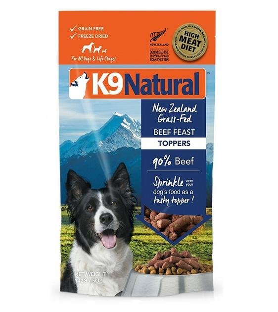 20% OFF: K9 Natural Freeze Dried Beef Topper Dog Food